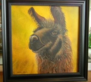 Patsy Seeley brown llama